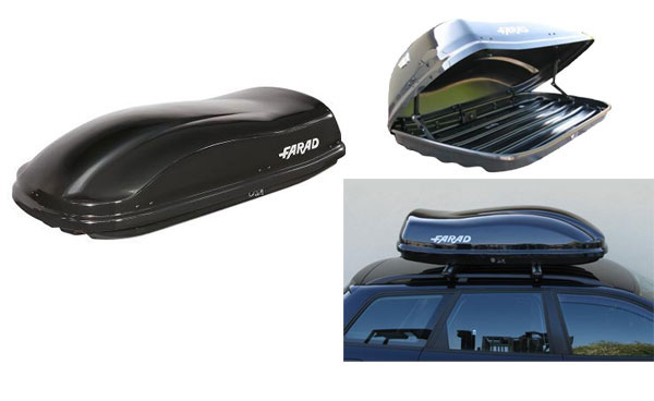 FARAD Бокс на крышу F3 680 210x100x40 680л чёрный металлик + ПОДАРОК