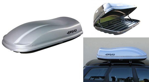 FARAD Бокс на крышу F3 680 210x100x40 680л серый матовый + ПОДАРОК