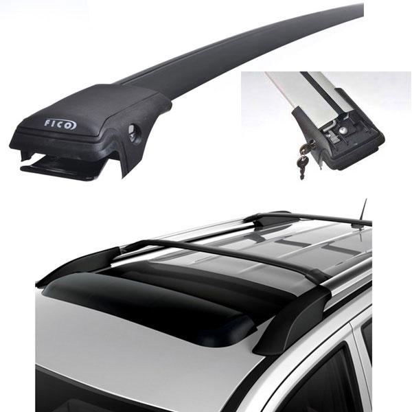 FICOPRO Багажник  для автомобилей с продольными дугами (рейлингами) черный