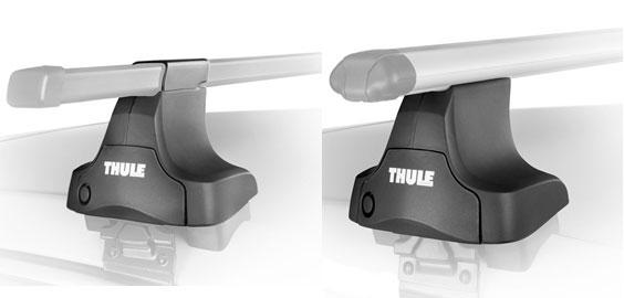 754 Комплект упоров THULE для автомобилей без водостоков (4 шт.)